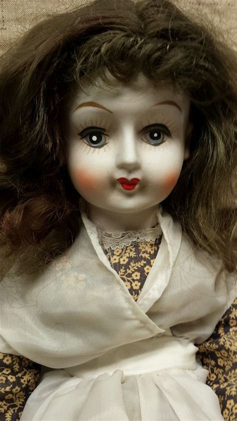bisque porcelain doll 18 quot antique porcelain doll with bisque looks