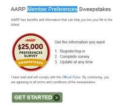 Aarp Sweepstakes - aarp 25 000 survey sweepstakes