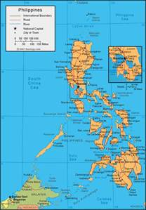 Philippines World Map by Philippines Map And Satellite Image