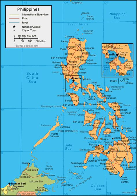 map of phillipines philippines map and satellite image