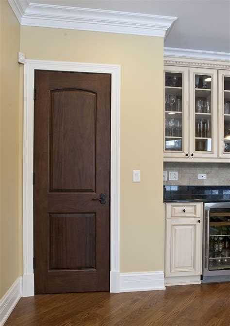 Interior Door Custom Single Solid Wood With Walnut Interior Doors
