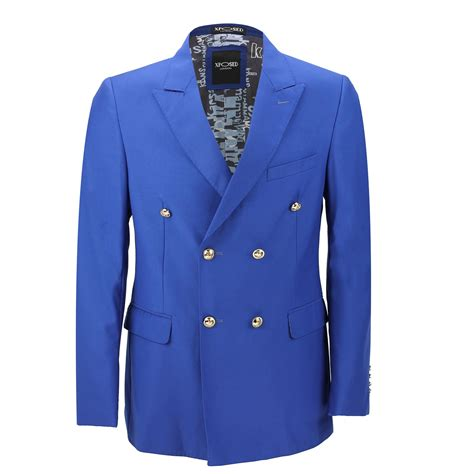 Jaket Classic Harga mens classic fitted breasted black blue blazer gold