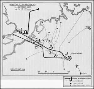 us maps raids us army air map of second schweinfurt raid on oct