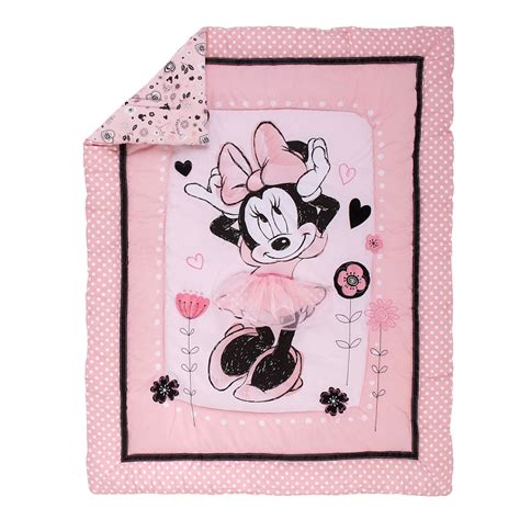minnie mouse baby bedding disney minnie mouse hello gorgeous 3 piece crib bedding