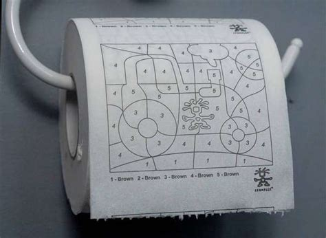 creative bathroom games paintbynumber toilet paper