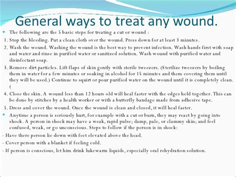 how to clean a wound wounds