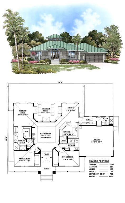 Cracker Style House Plans | florida cracker style cool house plan id chp 17425