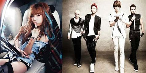 model rambut hyuna 4minute agensi kpop cube entertainment bekerjasama dengan agensi