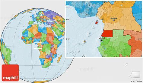 guinea ecuatorial map political location map of equatorial guinea