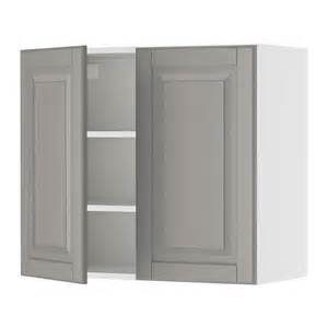 akurum wall cabinet with 2 doors birch effect lidi gray