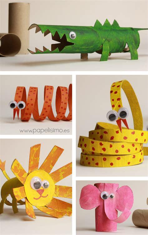 manualidades hechas con carton de animales cocodrilo con rollos de papel higienico