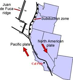 california tectonic plate map coastal geography and geomorphology