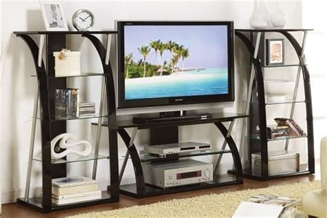 alexander black tempered glass modern tv stand side