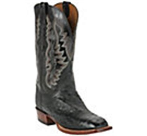 lucchese cowboy collection mens black quill ostrich