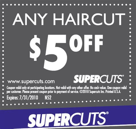 haircut coupons sarasota coupon 5 00 supercuts hair salon funtastic life
