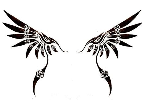 tattoo tribal wings designs tribal wing tattoos clipart best