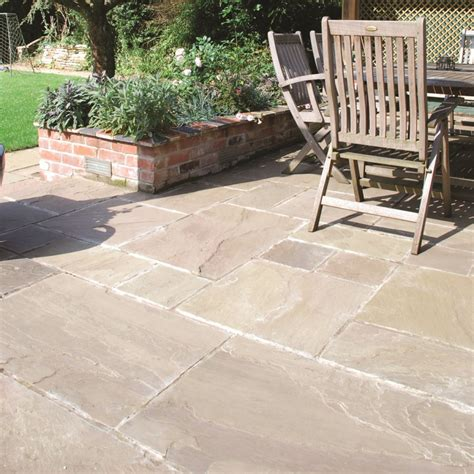 Riven Patio Slabs by Global Paving Riven Sandstone York Green Paving