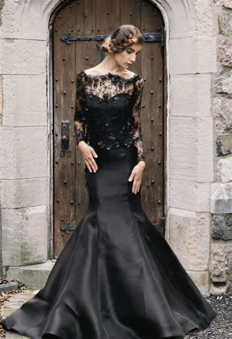 black wedding dresses 25 glamorous black wedding dresses luxury pictures
