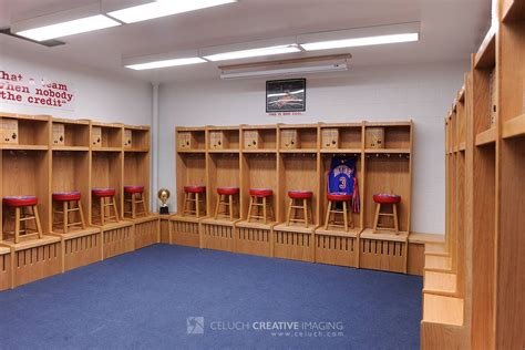 School Locker Room by Wood Sports Locker Installation Revere High School