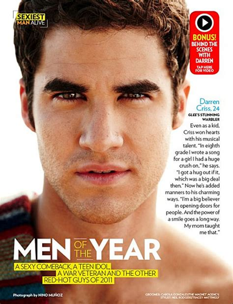 Peoples Sexiest Alive 2011 Is by Darren Criss Is Shirtless And Stuff For S Sexiest