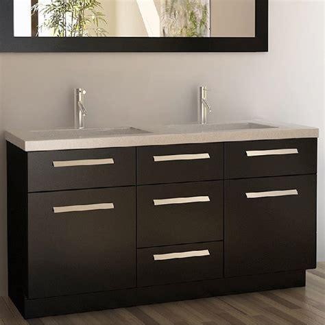 design elements moscony moscony espresso 60 inch double sink vanity set