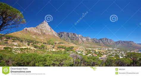 Landscape Cape Town Mountain Landscape Near Cape Town Royalty Free Stock