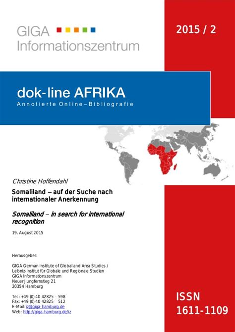 Search For International Somaliland In Search For International Recognition Somaliland A