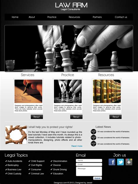 website templates for law firms psd download of law firm web template