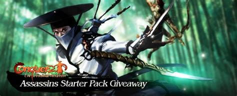 Conquer Online Giveaway - conquer online assassin starter pack giveaway mmobomb com