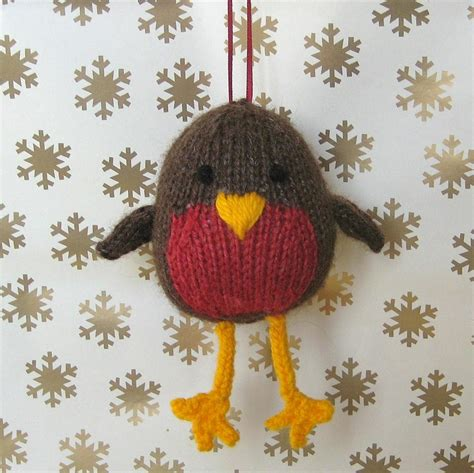 knitting pattern christmas robin jolly robin toy knitting pattern on luulla