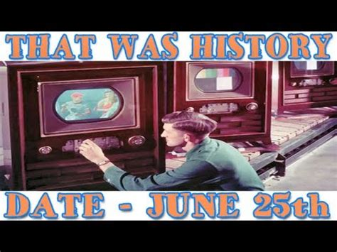 when did the color tv come out today in history a in color television