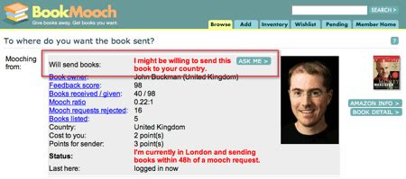 More Almost Free Books Bookmooch by Bookmooch Now Offers More Options For International Network