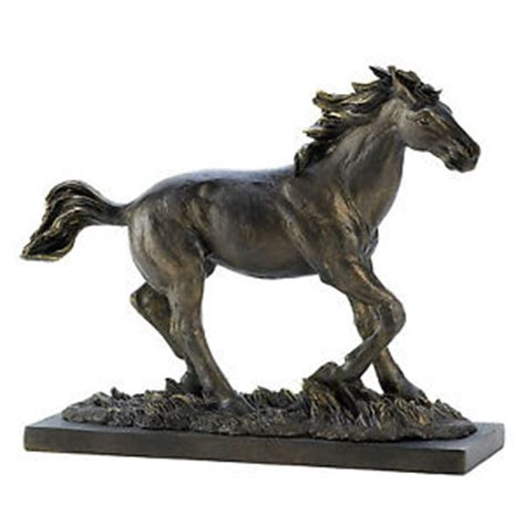 horse statues for home decor new wild stallion running horse statue figurine bronze