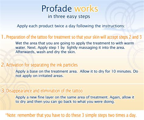 profade tattoo removal removal best methods