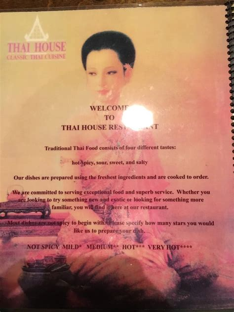 thai house university charlotte nc about the menu spice levels yelp