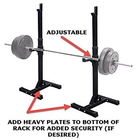 dumbbell bench press rack muorka pair of adjustable barbell stands racks bench press stands rack sturdy steel