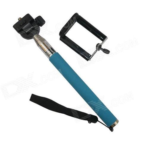 Monopod Iphone aluminum alloy monopod w tripod mount adapter for gopro 3 iphone cellphone lake blue