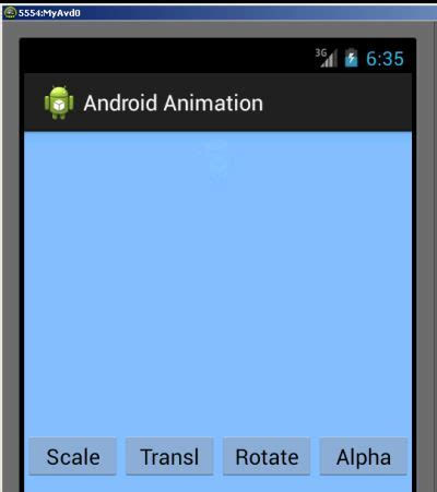 android layout flip animation exle image view animation in android studio