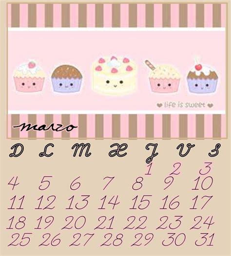 Calendario Kawaii Calendario Marzo 2012 Kawaii By Jajaviera By Jajaviera On