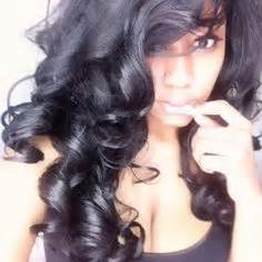 barrel curl weave hair how to cut side swept bangs im about to get these bangs in