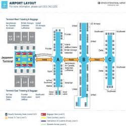 denver airport map us airways denver colorado airport map my