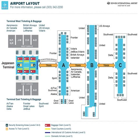 denver international airport map denver colorado airport map arizona map