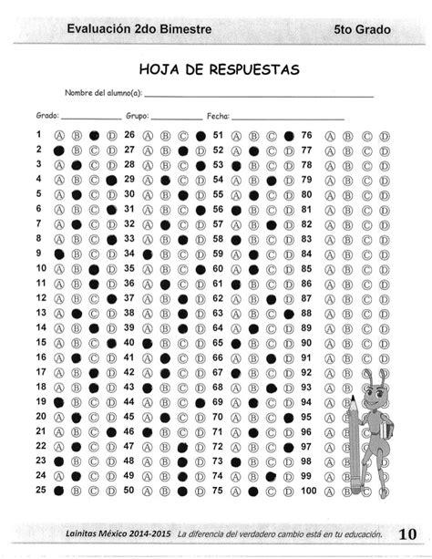 respuestas de examen 5 grado 4 bloque 5to grado bloque 2 clave de respuesta