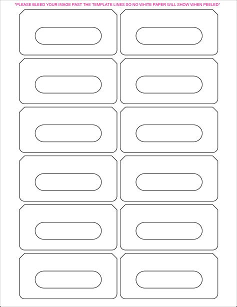 8 X 3 Label Template Popular Sles Templates 1 X 1 Label Template