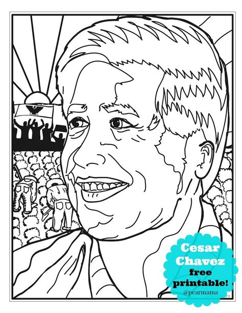Cesar Chavez Coloring Pages Coloring Home Free Cesar Chavez Coloring Page