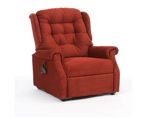 Electric Recliner Chair by Restwell Houston Fabric Electric Rise Recliner Chair