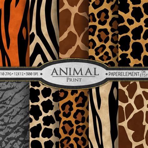 printable zebra print paper animal print digital paper animal print scrapbook paper