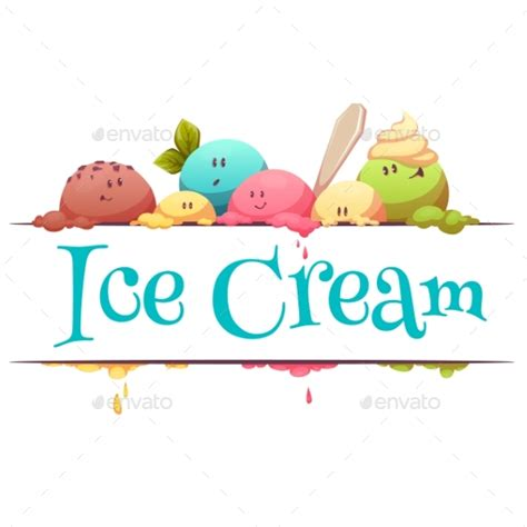 design banner ice cream ice cream banner with color drops by cattleyaart