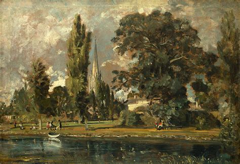 by john constable salisbury cathedral salisbury cathedral and leadenhall from the river avon