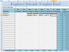 Employee Schedule Template by Employee Schedule Template Excel Project